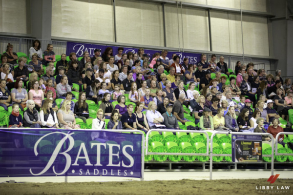 Fabulous Fans. 2017 NZL-Bates NZ Dressage Championships. Manfeild Park, Feilding. Saturday 4 February. Copyright Photo: Libby Law Photography